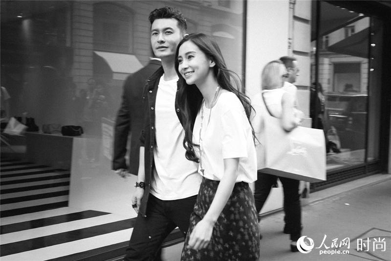 黄晓明baby夫妇看秀轰动巴黎时尚圈  引外国粉丝尖叫【2】