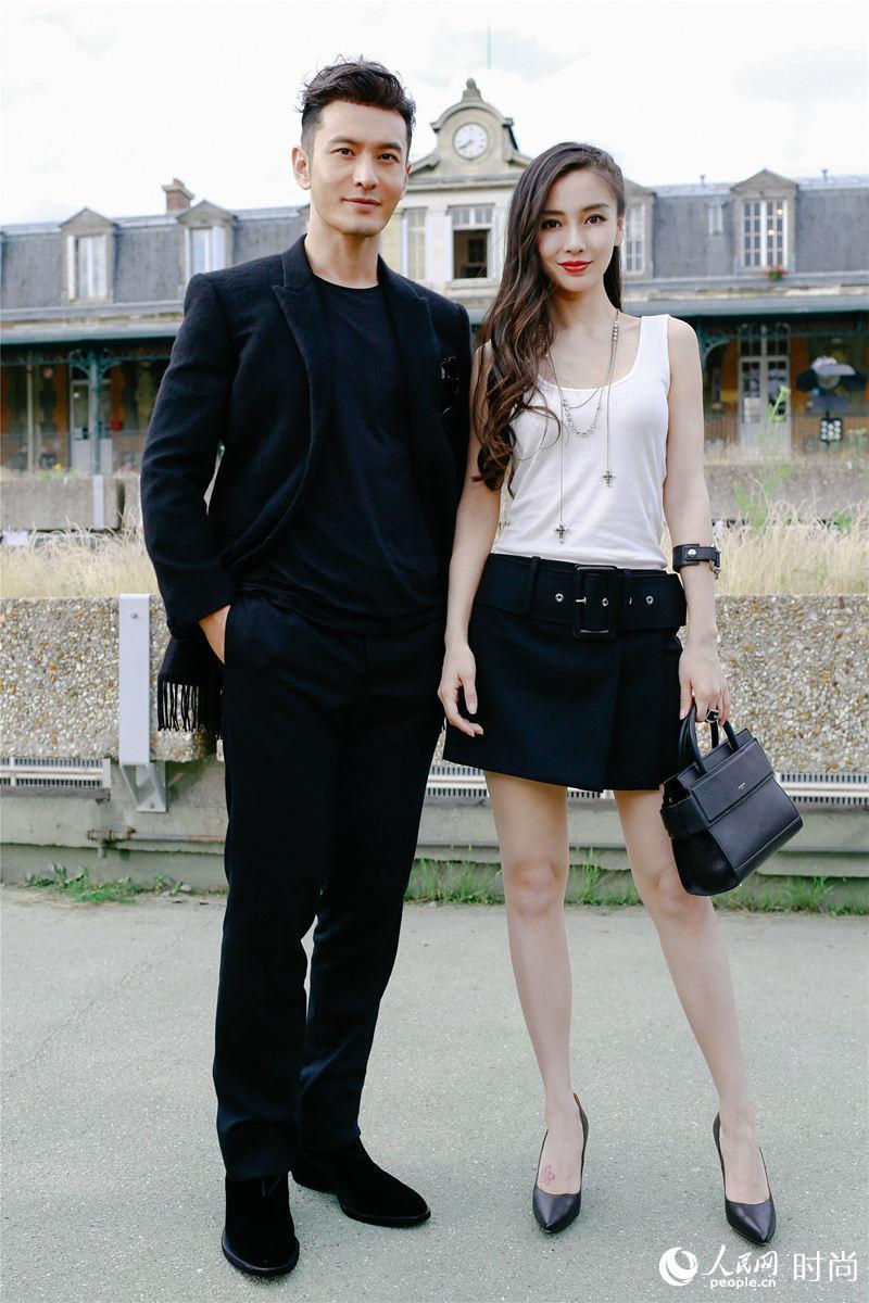 黄晓明baby夫妇看秀轰动巴黎时尚圈  引外国粉丝尖叫
