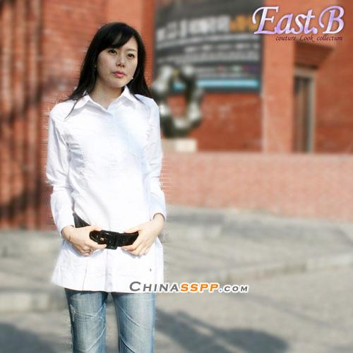 看看韩国街头美女通勤衬衫 『时尚生活』 圣